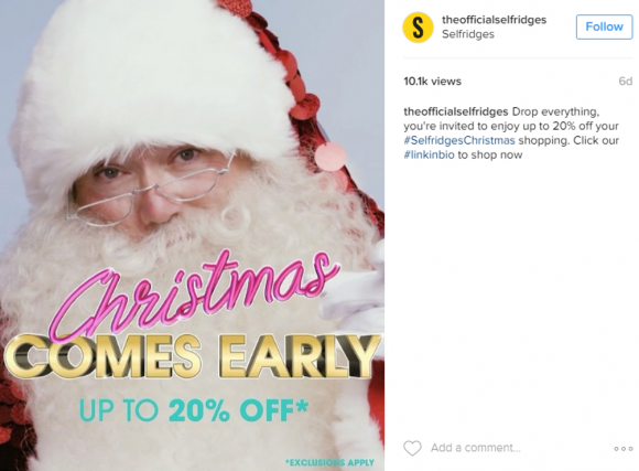 Selfridges' kitsch Black Friday campaign